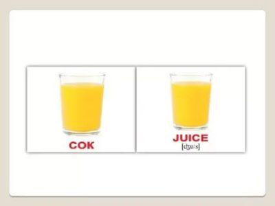 как пишется по английски сок