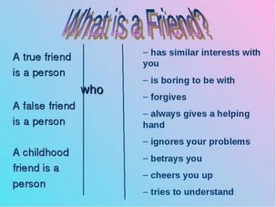 что такое дружба на английском языке