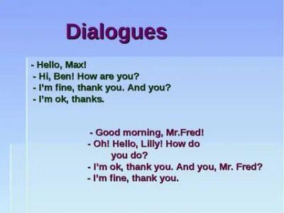 диалог на английском как дела