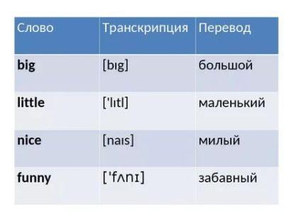как читается по английски слово big