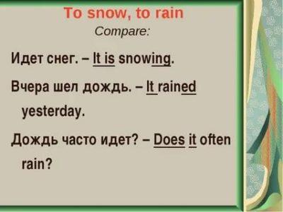 как по английски дождь
