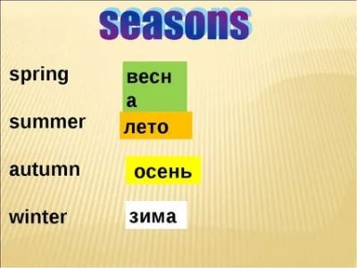 как по английски весна