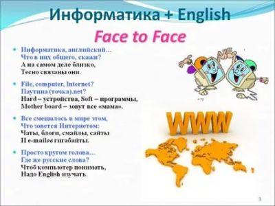 как по английски будет слово информатика