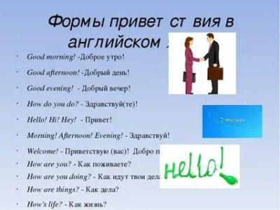 как поздороваться на английском