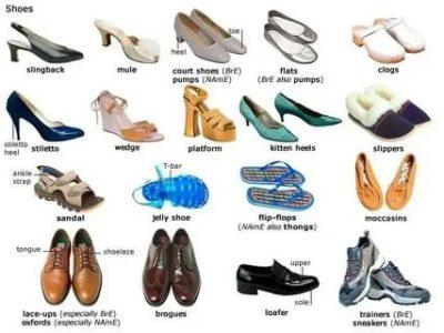как по английски туфли