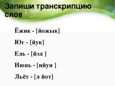 как сделать транскрипцию слова