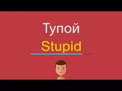 как по английски глупый