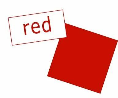 как по английски красный