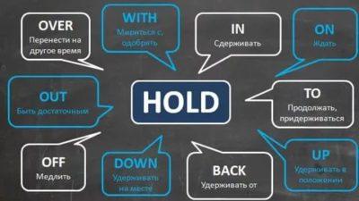 как переводится слово hold