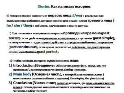как писать рассказ на английском