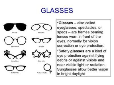 как будет по английски очки