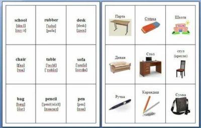 как сделать карточки по английскому языку