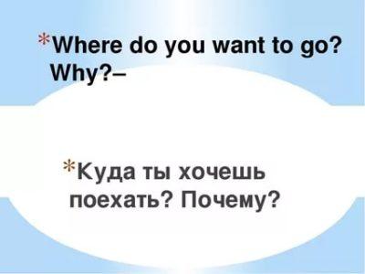 куда я хочу поехать на английском