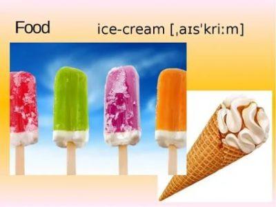 как произносится мороженое по английски