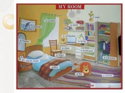 как описать свою комнату на английском языке