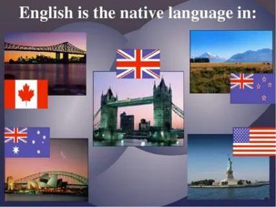 где используется английский язык