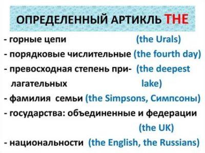 что такое определенный артикль в английском