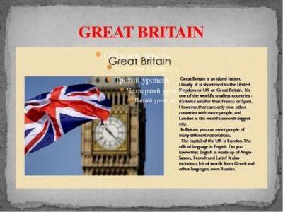 великобритания по английски как пишется