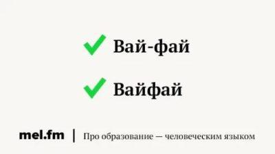 как пишется вай фай на английском
