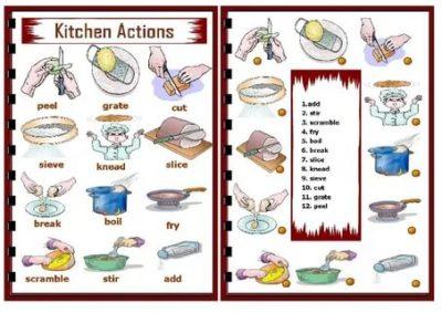 как будет по английски готовить еду