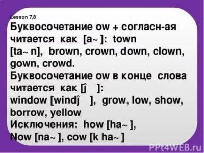 как читается слово town