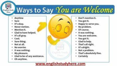 как переводится you are welcome