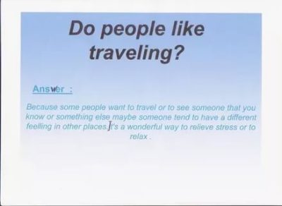 почему люди любят путешествовать на английском