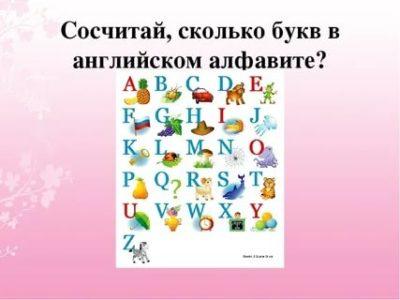 сколько букв в английском языке