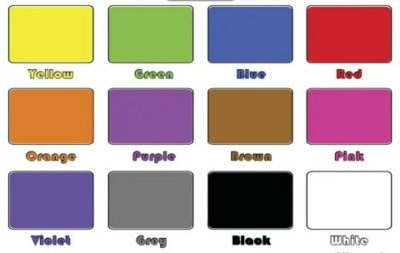 как по английски цвета