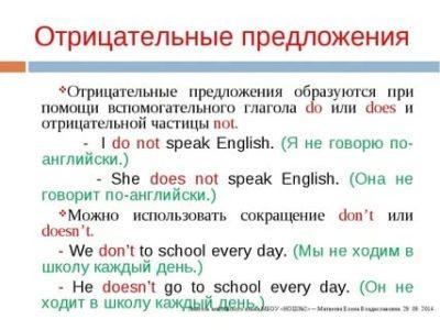 как сделать отрицательное предложение в английском языке