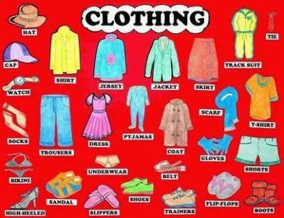 как по английски одежда