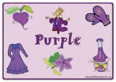 как по английски фиолетовый