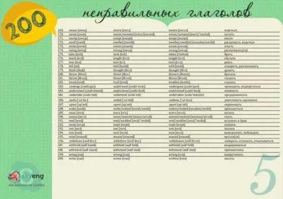 сколько всего неправильных глаголов в английском языке