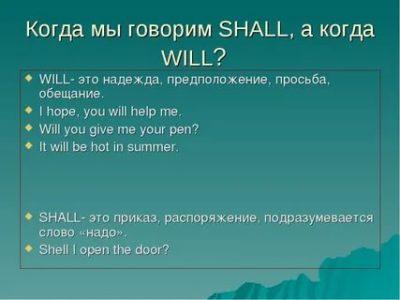 когда shall когда will