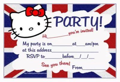 как написать приглашение на английском